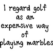 "I Regard Golf - Gourmet Rubber Stamps Cling Stamps 2.75""X4.75"""