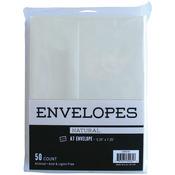 "Natural - Leader A7 Envelopes (5.25""X7.25"") 50/Pkg Peggable"