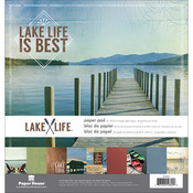 """Lake Life - Paper House Double-Sided Paper Pad 12""""X12"""" 24/Pkg"""