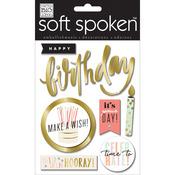 Hooray Birthday - Soft Spoken Themed Embellishments