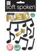 Make Music - Soft Spoken Themed Embellishments Me & My Big Ideas-So Spoken Themed Embellishments. Perfect for all your paper crafting projects! This package contains Make Music: eleven stickers on one 5-3/4x4-1/2 inch backing sheet. Comes in a variety of themes. Each sold separately. Imported.