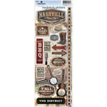 """Nashville - Paper House Cardstock Stickers 4.625""""X13"""""""
