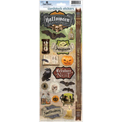 """Halloween Hauntings - Paper House Cardstock Stickers 4.625""""X13"""""""