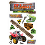 "Off Road - Paper House 3D Stickers 4.5""X8.5"""