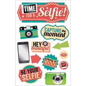 """Time For A Selfie - Paper House 3D Stickers 4.5""""X8.5"""""""