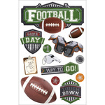"Football #2 - Paper House 3D Stickers 4.5""X8.5"""
