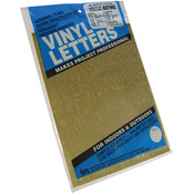 """Gold - Permanent Adhesive Vinyl Letters & Numbers .5"""" 852/Pkg"""