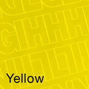 """Yellow - Permanent Adhesive Vinyl Letters & Numbers .75"""" 302/Pkg"""