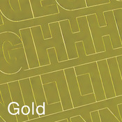 """Gold - Permanent Adhesive Vinyl Letters & Numbers 1"""" 183/Pkg"""