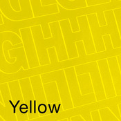 """Yellow - Permanent Adhesive Vinyl Letters & Numbers 1"""" 183/Pkg"""