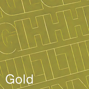 """Gold - Permanent Adhesive Vinyl Letters & Numbers 2"""" 167/Pkg"""