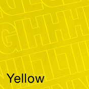 """Yellow - Permanent Adhesive Vinyl Letters & Numbers 3"""" 160/Pkg"""