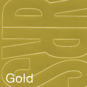 """Gold - Permanent Adhesive Vinyl Letters 6"""" 94/Pkg"""