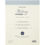 """50 Sheet 24lb Natural White - Strathmore Writing Pad Lined 8.5""""X11"""""""