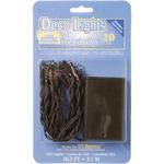 Clear Lights, Brown Cord - Deco Lights Battery Operated Teeny Bulbs - 20 Bulbs
