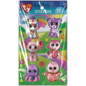 Girl - Beanie Boo 3D Stickers 12/Pkg