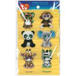 Jungle - Beanie Boo Wiggle Eye Stickers 12/Pkg