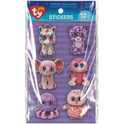Girl - Beanie Boo Wiggle Eye Stickers 12/Pkg