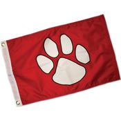 """Paw Print Flag 12""""X18"""""""