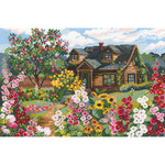 "15""X10.25"" 16 Count - Flowering Garden Counted Cross Stitch Kit"