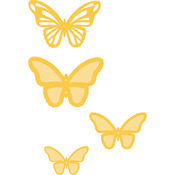 """Flutter Layered Butterflies Up To 2""""X1.5 - Kaisercraft Dies"""