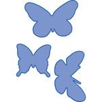"""3 Butterflies 1.5""""X1.5"""" To 2.5""""X1.75"""" - Kaisercraft Dies"""
