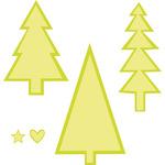 """Christmas Trees .5""""X.5"""" To 3.5""""X2"""" - Kaisercraft Dies"""