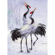 "11.75""X15.75"" 14 Count - Cranes Counted Cross Stitch Kit"