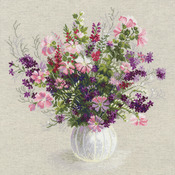 "19""X19"" 14 Count - Summer Bouquet Counted Cross Stitch Kit"