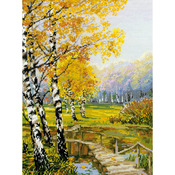 """10.25""""X15"""" 14 Count - The Birches Counted Cross Stitch Kit"""