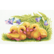 "15.75""X9.75"" 14 Count - Funny Ducklings Counted Cross Stitch Kit"
