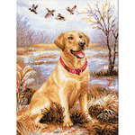 """11.75""""X15.75"""" 14 Count - Labrador Counted Cross Stitch Kit"""