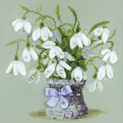 "8""X8"" 14 Count - Snowdrops Counted Cross Stitch Kit"