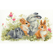 "15.75""X9.75"" 14 Count - Funny Rabbits Counted Cross Stitch Kit"