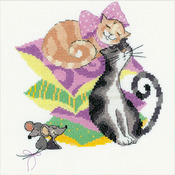 "8""X8"" 14 Count - Cats And Mice Counted Cross Stitch Kit"