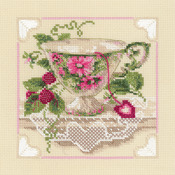 """8""""X8"""" 14 Count - Raspberry Tea Counted Cross Stitch Kit"""
