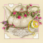 "8""X8"" 14 Count - Tea With Lemon Counted Cross Stitch Kit"