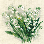 """8""""X8"""" 14 Count - Lilly Of The Valley Counted Cross Stitch Kit"""