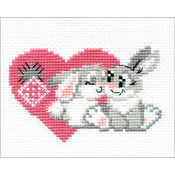"""6.25""""X5"""" 10 Count - You Are My Sweetheart Counted Cross Stitch Kit"""
