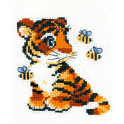"""6""""X7"""" 10 Count - Stripies Counted Cross Stitch Kit"""