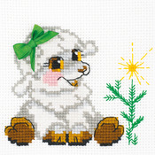 """6""""X6"""" 10 Count - Little Lamb Counted Cross Stitch Kit"""
