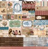 Provence Combo Sticker Sheet - Bo Bunny