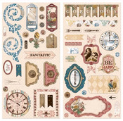Provence Chipboard Stickers - Bo Bunny