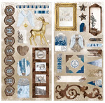 Sleigh Ride Chipboard Stickers - Bo Bunny