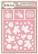 Falling Leaves Stickable Stencil - Bo Bunny