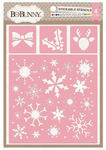Winter Delight Stickable Stencil - Bo Bunny