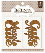 Cute Laser Cut Chipboard - Bo Bunny