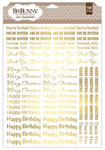 Sentiments Gold Foil Rub-on Transfers - Bo Bunny