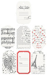 Foil Accent Resist Watercolor Tags & Tabs - A Victorian Christmas - Prima