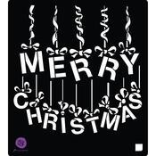 Ornament Letters Stencil - A Victorian Christmas - Prima